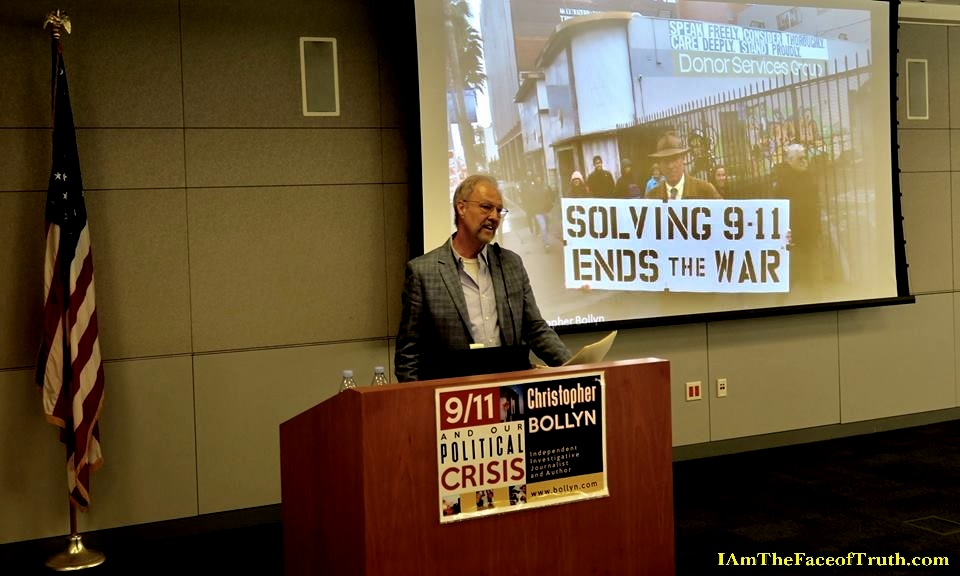 Christopher Bollyn's introduction by Kevin Brant at San Jose State University - MLK Library - Sept 23rd 2017