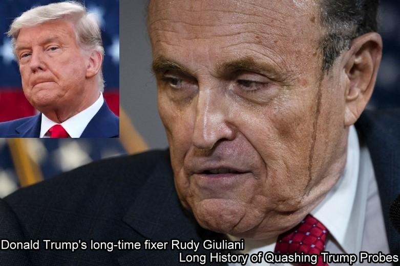 Donald Trump's long-time fixer Rudy Giuliani - Long History of Quashing Trump Probes