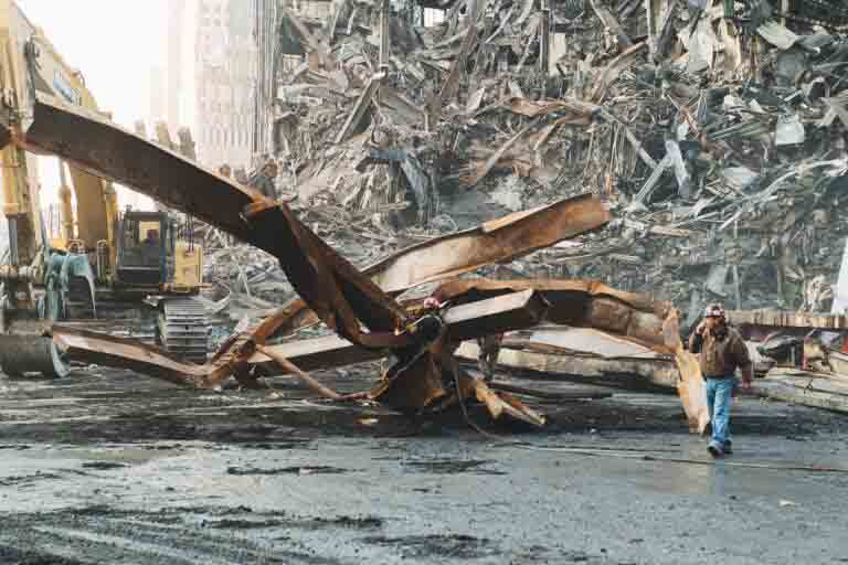 Nearly 300,000 tons of structural steel were expected to be recovered from the remains of the World Trade Center but fewer than 200,000 tons were actually found in this form.