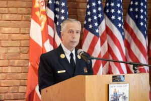 Joseph Pfeifer has been a firefighter for 37 years, and was the first chief to respond on 9 11.Credit...New York Fire Department