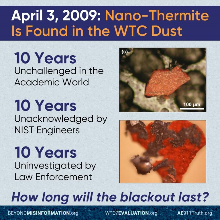Active Thermitic Material Discovered in Dust from the 9/11 World Trade Center Catastrophe